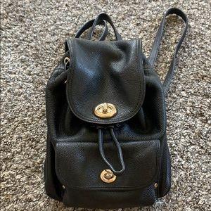 Black Coach mini Backpack